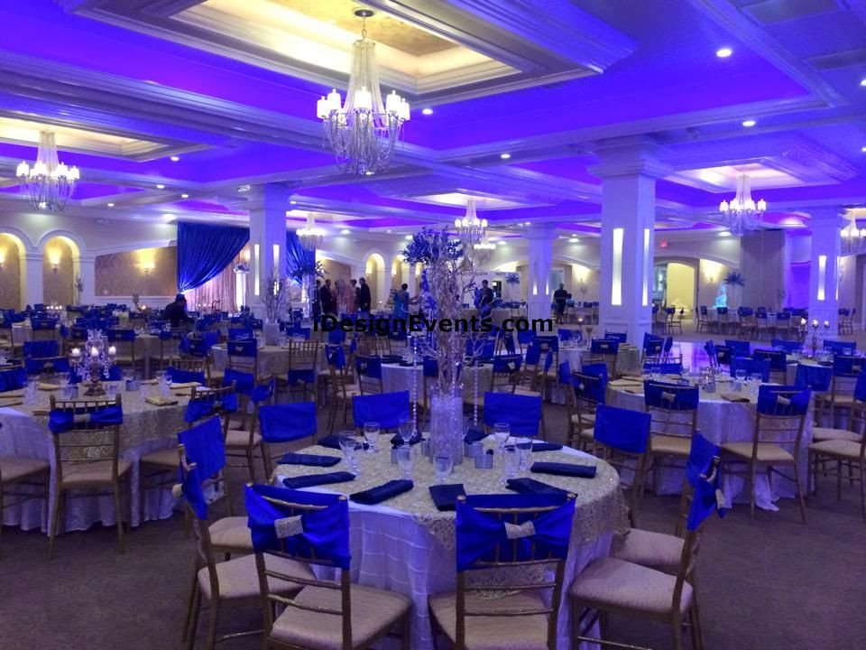 Royal Blue Wedding Decor Ideas Elegant Royal Blue & Gold Wedding Decor Ideas