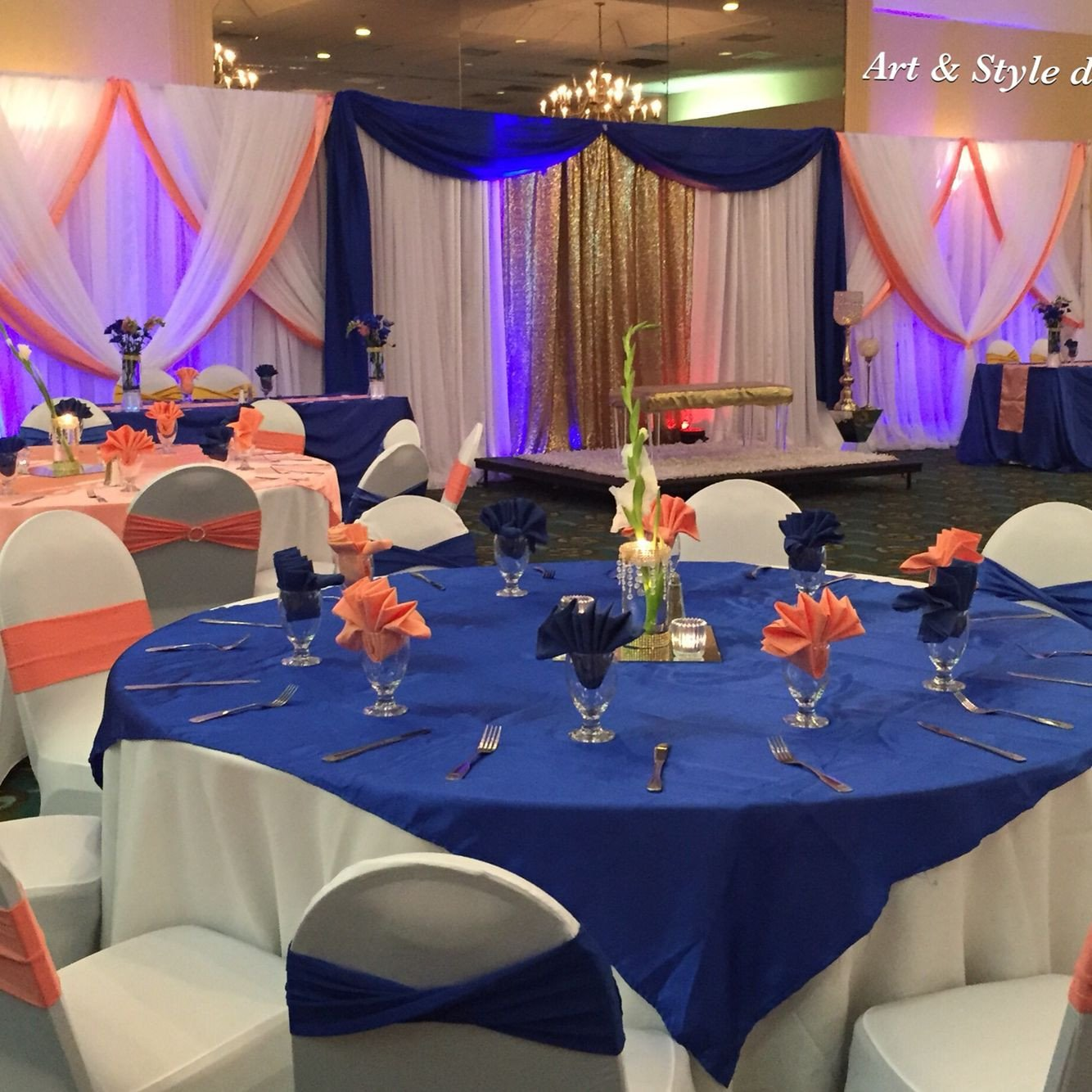 Royal Blue Wedding Decor Ideas Fresh Beautiful Wedding Decor Royal Blue and Coral Artandstyledecor