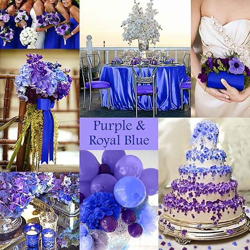 Royal Blue Wedding Decor Ideas Inspirational Blue and Purple Colour Scheme Wedding Ideas by Colour