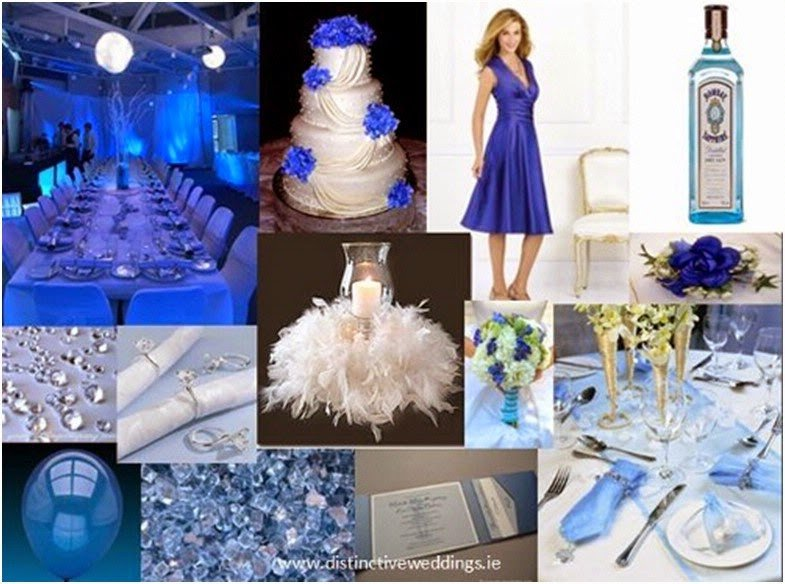 Royal Blue Wedding Decor Ideas Lovely Royal Blue Silver White Wedding Decorations