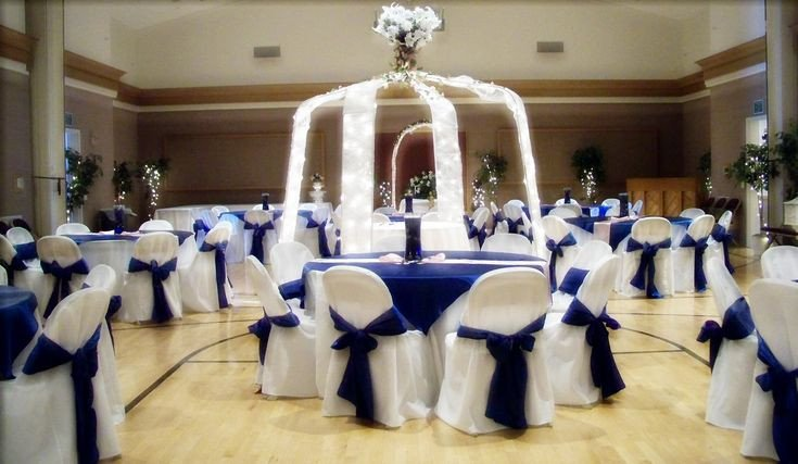 Royal Blue Wedding Decor Ideas Unique Black White Silver Royal Blue Wedding
