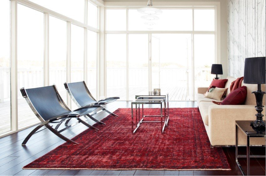 Rugs Contemporary Living Room Beautiful Overdyed and Persian Rugs Home Designs