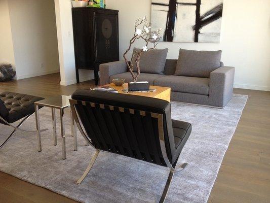 Rugs Contemporary Living Room Fresh Silk Bamboo Rug In Modern Living Room
