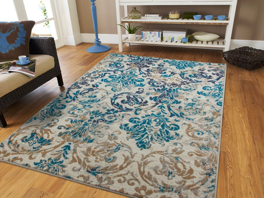 Rugs Contemporary Living Room New Modern Rugs Blue Gray area Rug 8x10 Living Room Carpet 5x8 Chrysanthemum Rugs 2x