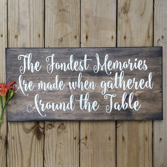 Rustic Dining Room Wall Decor Awesome Vintage Inspired Sign the Fondest Memories are Made when Gathered Around the Table Rustic