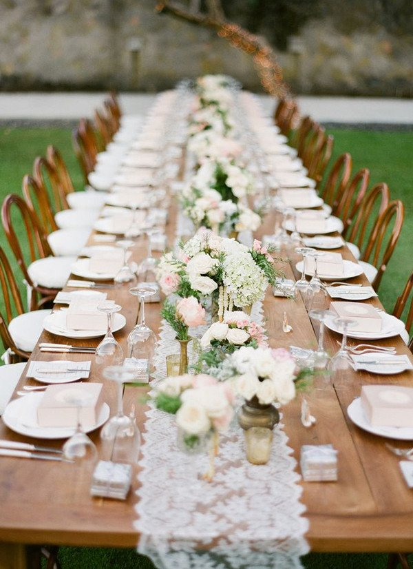 Rustic Table Decor for Wedding Lovely Long Table Wedding Decorations Archives Weddings Romantique