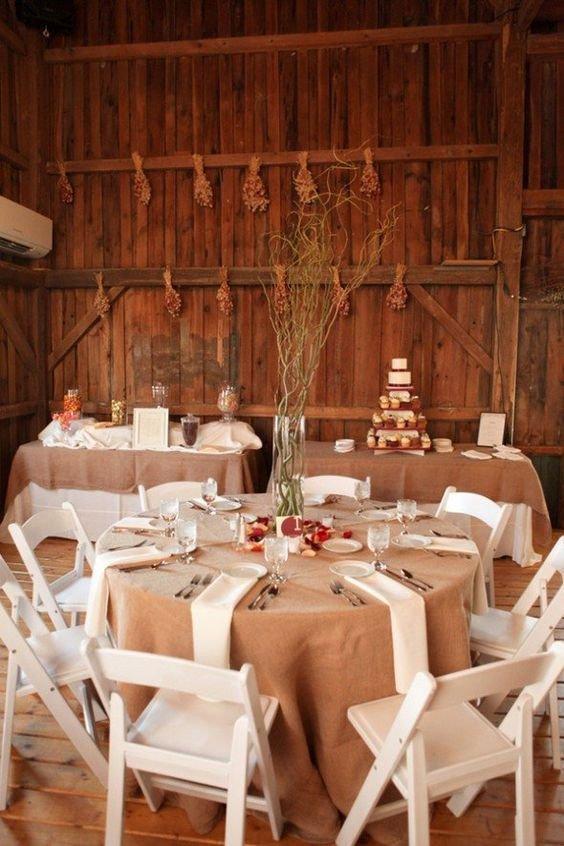 Rustic Table Decor for Wedding Luxury 30 Barn Wedding Reception Table Decoration Ideas