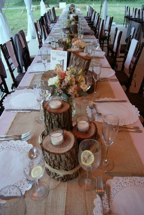 Rustic Table Decor for Weddings Beautiful Rustic Wedding Décor Ideas