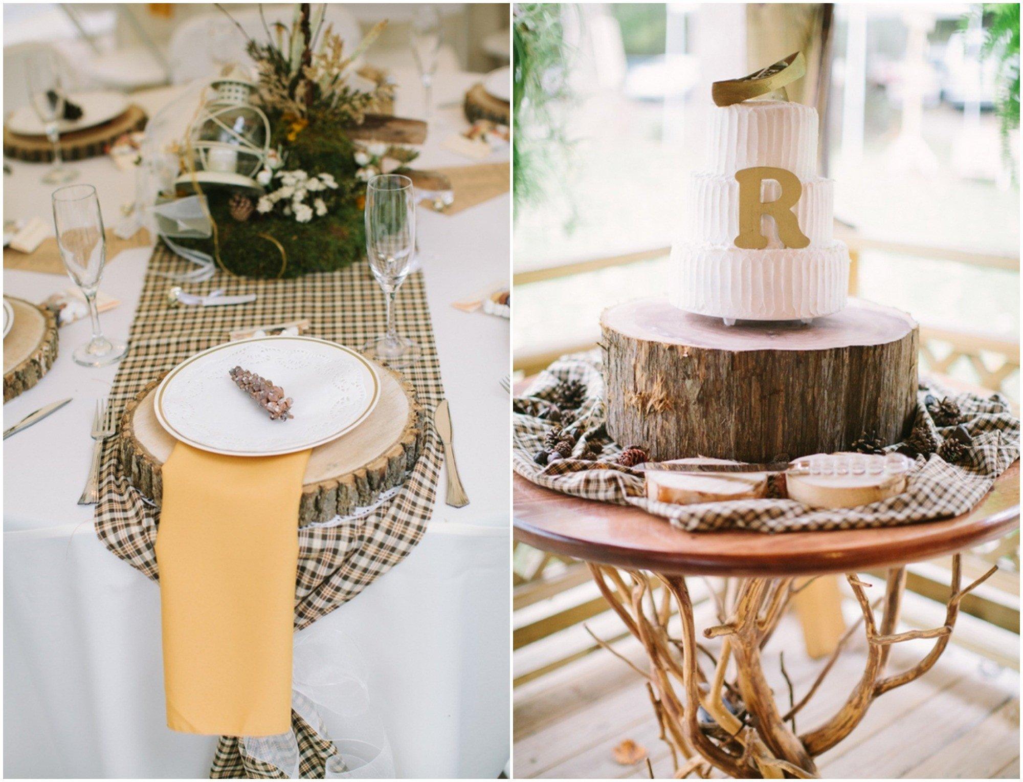 Rustic Table Decor for Weddings Elegant Elegant Virginia Woodland Rustic Wedding Rustic Wedding Chic