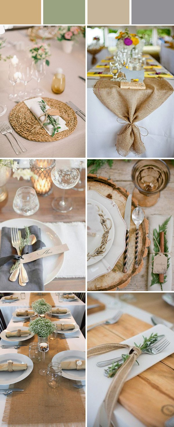 Rustic Table Decor for Weddings Elegant Wedding Table Setting Decoration Ideas for Reception
