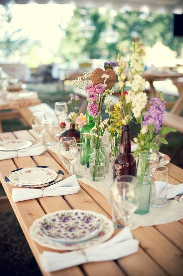 Rustic Table Decor for Weddings Lovely Rustic Wedding Table Decoration Ideas