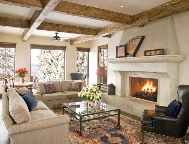 Rustic Traditional Living Room Beautiful Mountain Chic Traditional Living Room Other by Bear Mountain Builders