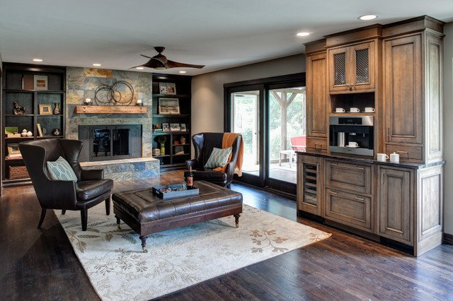 Rustic Traditional Living Room Beautiful Rustic Elegance Traditional Living Room Other Metro by Insignia Kitchen and Bath Design