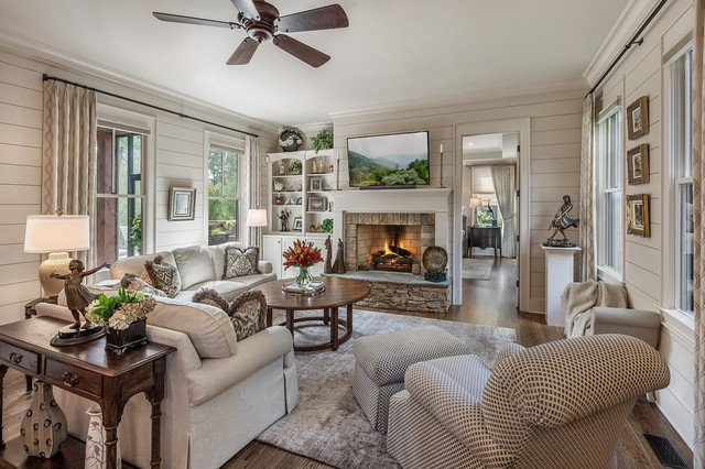 Rustic Traditional Living Room Elegant Rustic Ramble Cottage Traditional Living Room Other by Dillard Jones Builders Llc