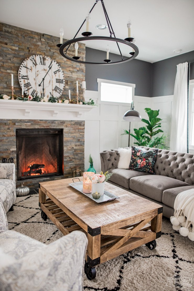Rustic Traditional Living Room Inspirational A Cozy Rustic Glam Living Room Makeover for Fall