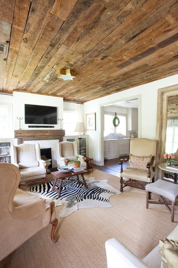 Rustic Traditional Living Room Luxury Old Cloverdale House Renovation Living Room Playroom and Half Bath Reveal