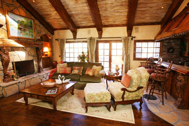 Rustic Traditional Living Room Luxury Rustic Traditional Style