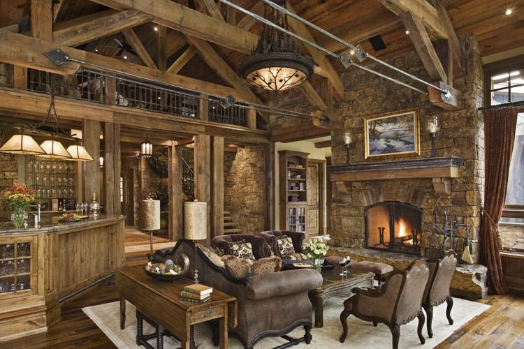 Rustic Traditional Living Room New Rustic House Design In Western Style Tario Residence Digsdigs