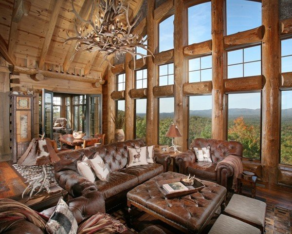 Rustic Traditional Living Room Unique Wild Turkey Lodge Traditional Living Room atlanta by Modern Rustic Homes