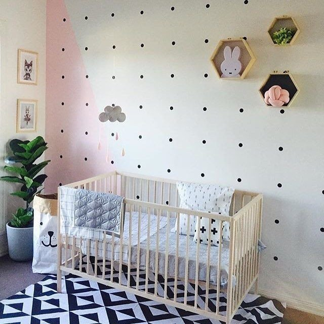 Scandinavian Decor On A Budget New that Accent Wall Love Everything Happening In This Scandinavian Nursery Done On A Bud