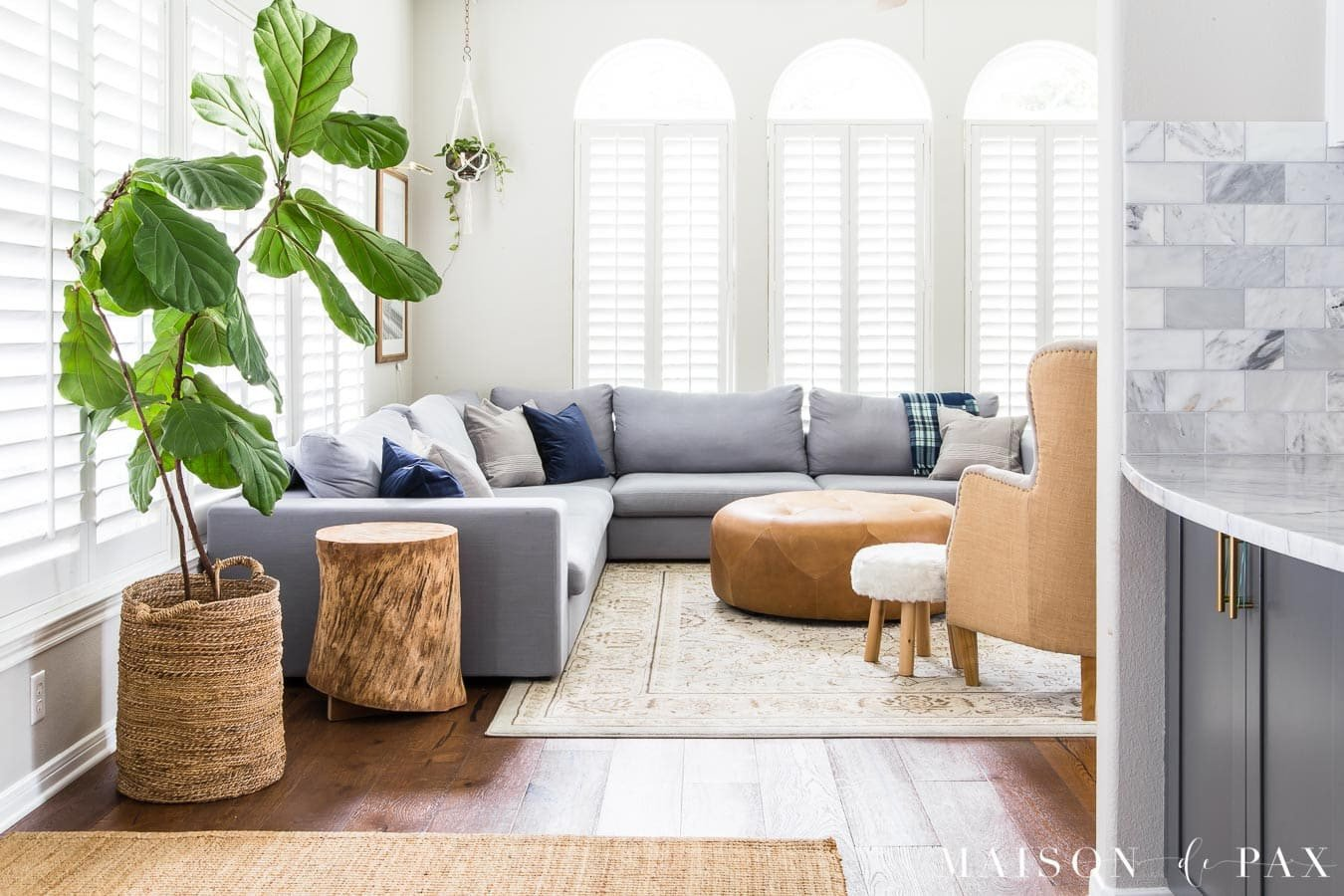 Simple Living Room Decorating Ideas Unique Gray Living Room with Simple Fall Decor Maison De Pax