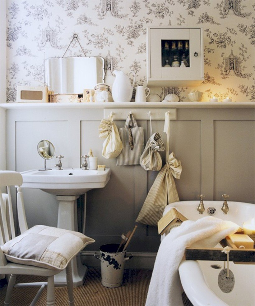 Small Bathroom Decor Ideas Pictures Unique 54 Small Country Bathroom Designs Ideas Roundecor