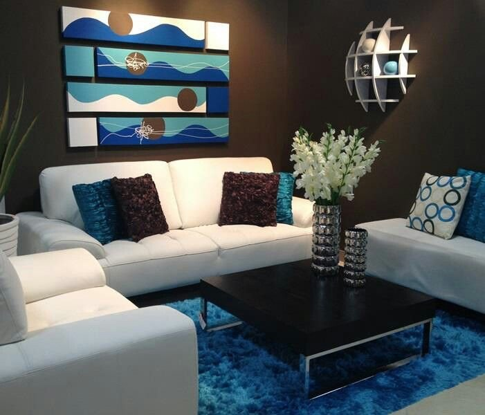 Small Blue Living Room Ideas Elegant Love Blue N Brown Decora Home Stores In Puerto Rico Pinterest