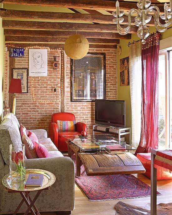 Small Bohemian Living Room Ideas Lovely Small Bohemian Feminine Apartment In Paris Decoholic