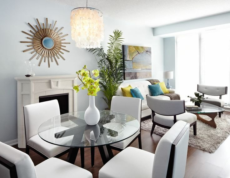 Small Living Dining Room Ideas Elegant Modern Open Concept Condo Dining and Living Room Lux Design Lux Living Rooms