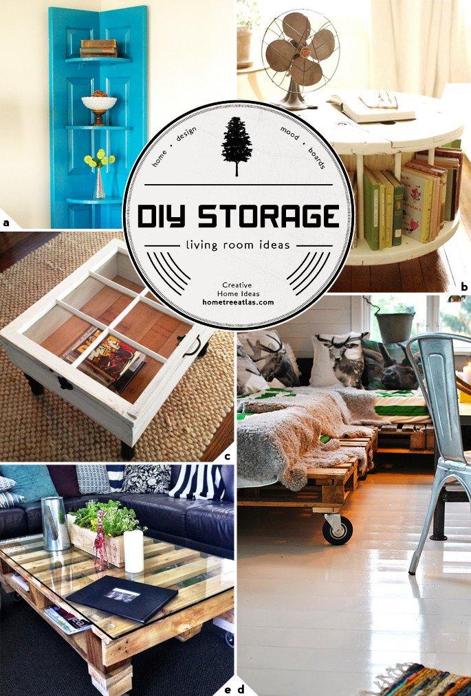 Small Living Room Diy Ideas Awesome Creative Living Room Storage Ideas