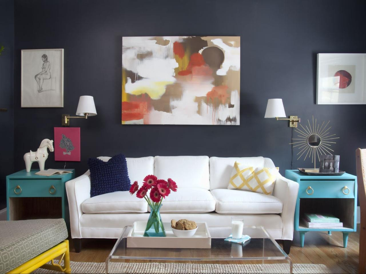 Small Living Room Diy Ideas Lovely A Painter S Diy Small Condo Design