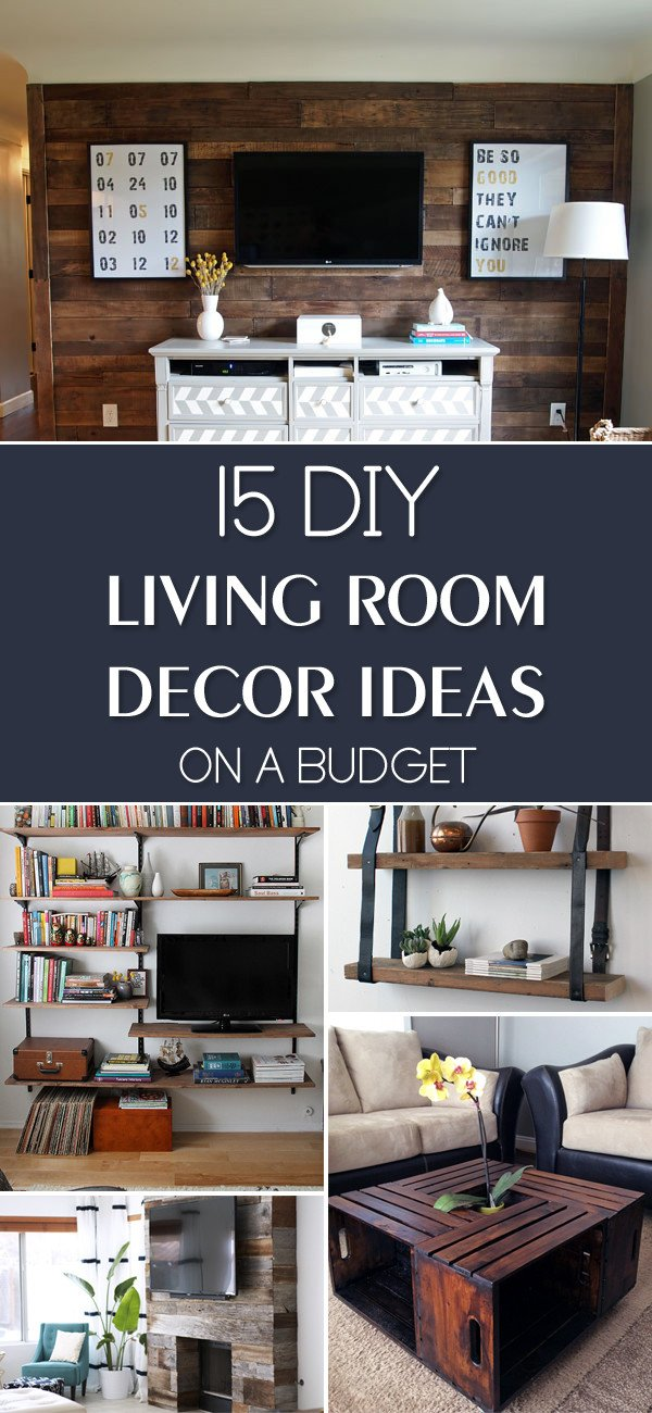 Small Living Room Diy Ideas New 15 Diy Living Room Decor Ideas A Bud