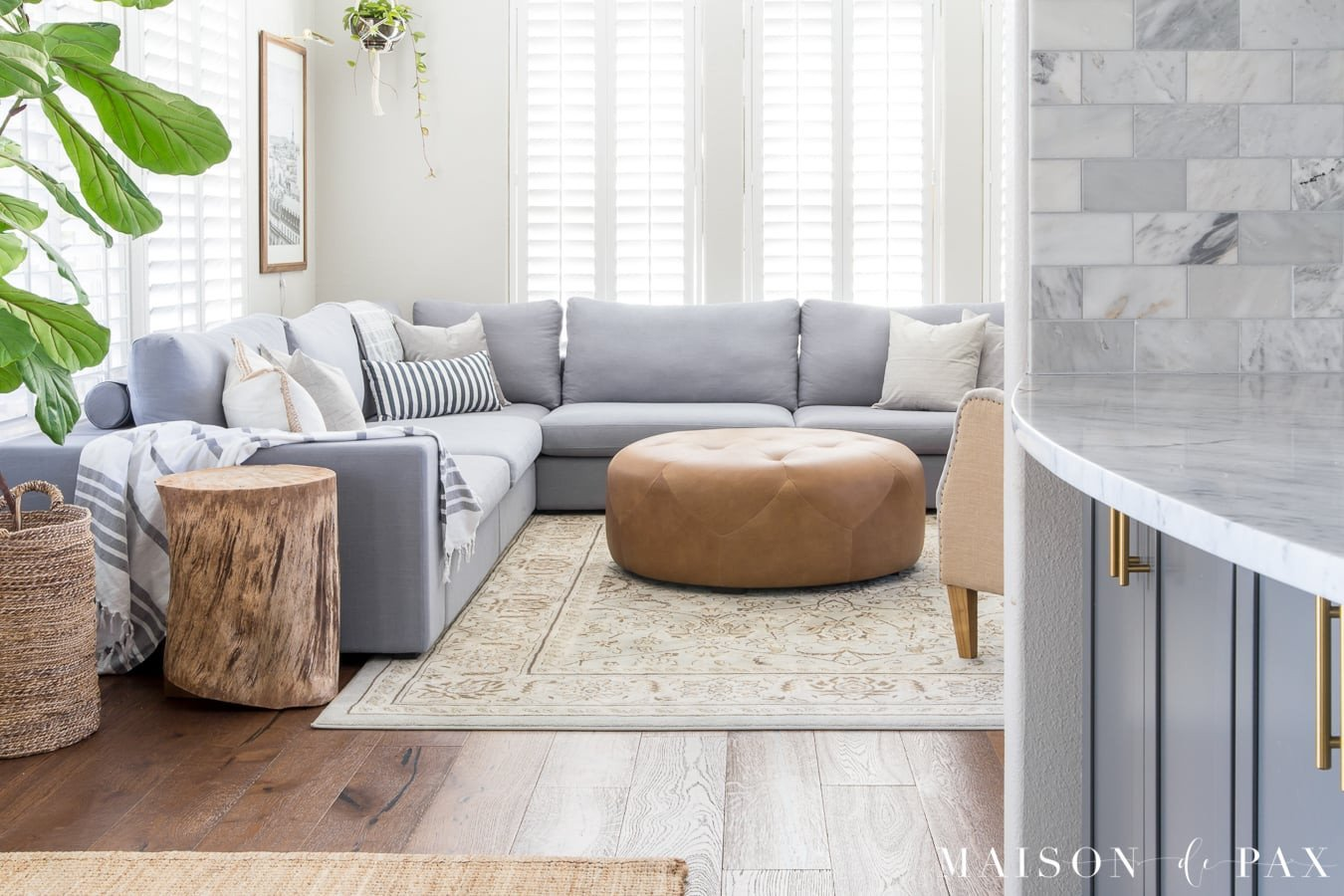 Designing a Small Living Room with a Sectional Maison de Pax