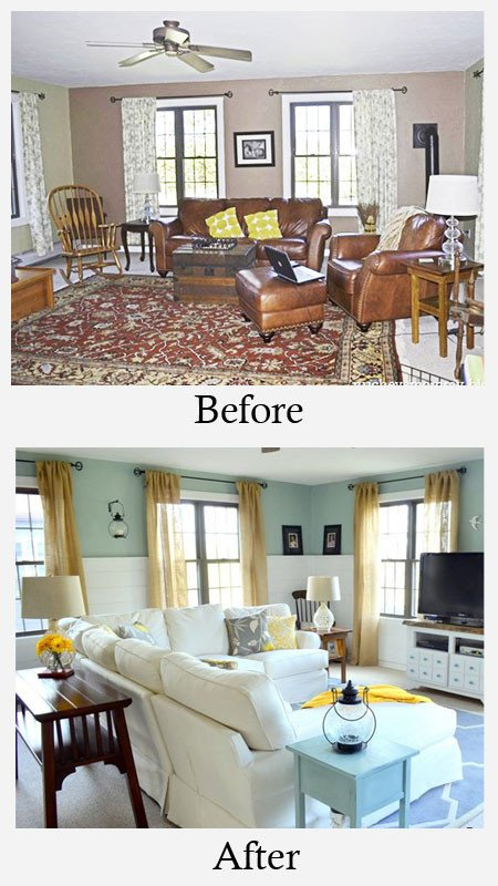 Small Living Room Makeover Ideas New Living Room Makeovers before and after S