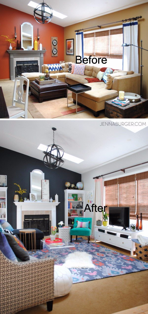 Small Living Room Makeover Ideas Unique before and after Great Living Room Renovation Ideas Hative