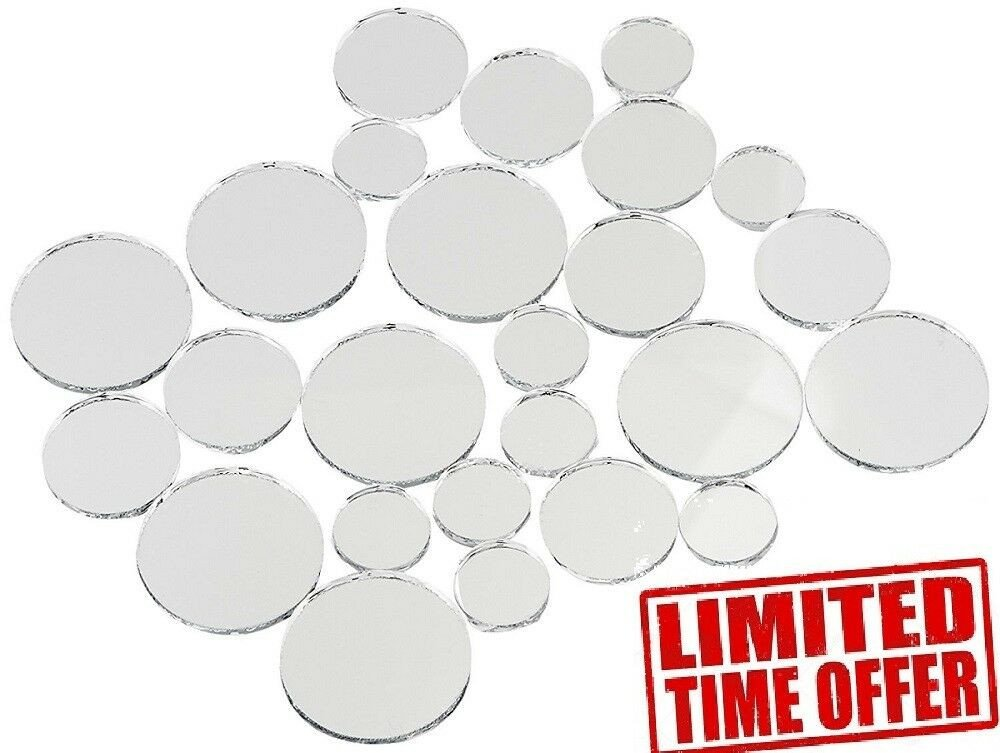 Small Mirrors for Wall Decor Awesome Variable Sizes Mirrors Set 25 Pc Wall Mount Small Round Home Decor New Glass Art