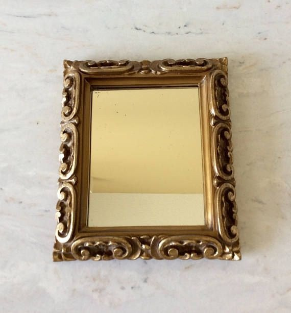 Small Mirrors for Wall Decor Luxury Vintage Gold Small Mirror Statement Wall Decor French Country Mid Century Cottage Hollywood