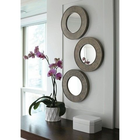 Small Mirrors for Wall Decor New Include Small Mirror as Part Of Gallery Wall In Living Room Threshold™ 3 Pack Sunburst Mirror
