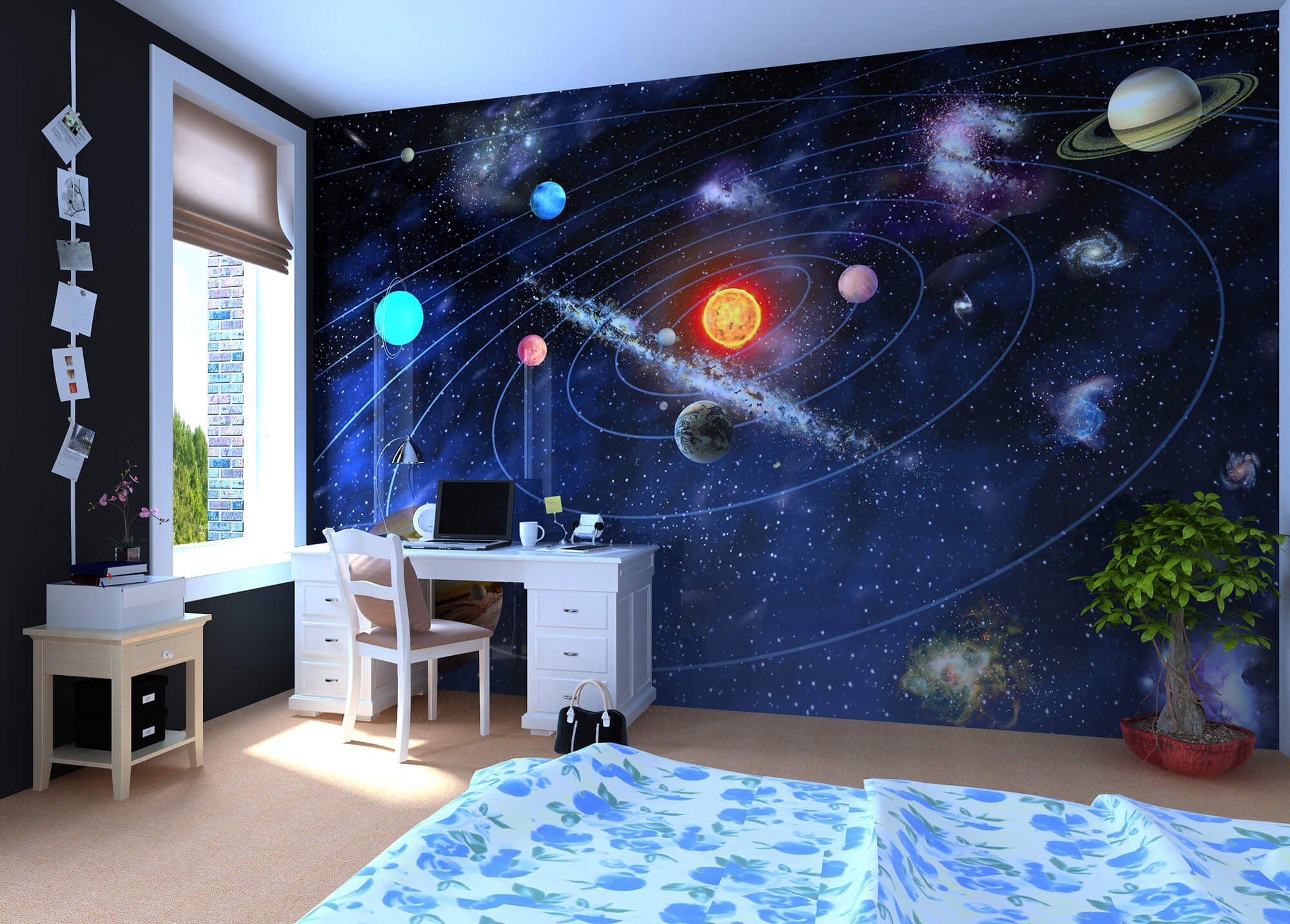 Space Room Decor for Kids Awesome these Educational Wall Ideas are Perfect for Kids