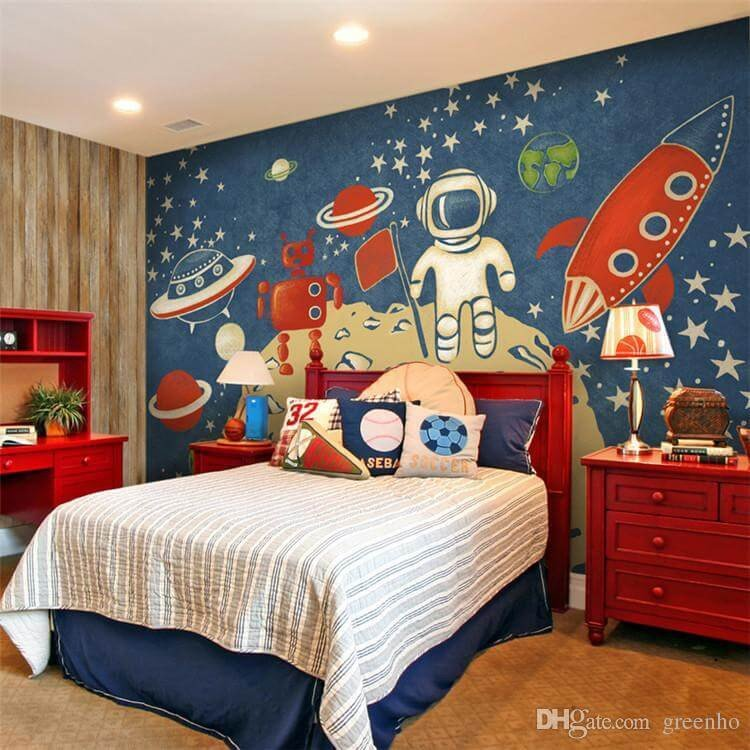 Space Room Decor for Kids Beautiful 20 Kid S Space themed Bedroom Design Ideas Home Cbf