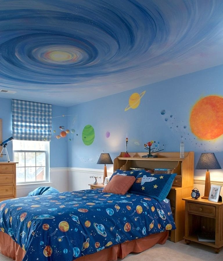 Space Room Decor for Kids Beautiful Space theme Bedroom On Pinterest