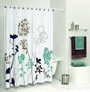 Teal and Brown Bathroom Decor Best Of Amazon Uphome 72 X 72 Inch Royal Blue Brown and Teal Dandelion Bathroom Shower Curtain