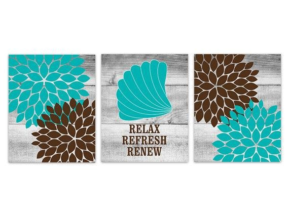 Teal and Brown Bathroom Decor Lovely Brown and Teal Bathroom Decor Relax Refresh Renew Instant