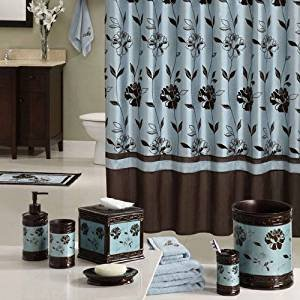 Teal and Brown Bathroom Decor New Amazon Teal Colored Brown Bathroom Flowered 72 X 72 Shower Curtain Home & Kitchen