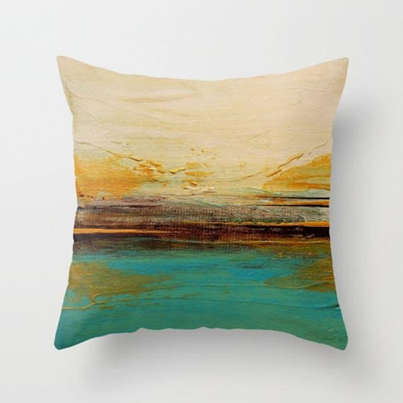 Teal and Brown Home Decor Lovely Teal and Brown Decor Throw Pillow by Lizmosloft On Etsy