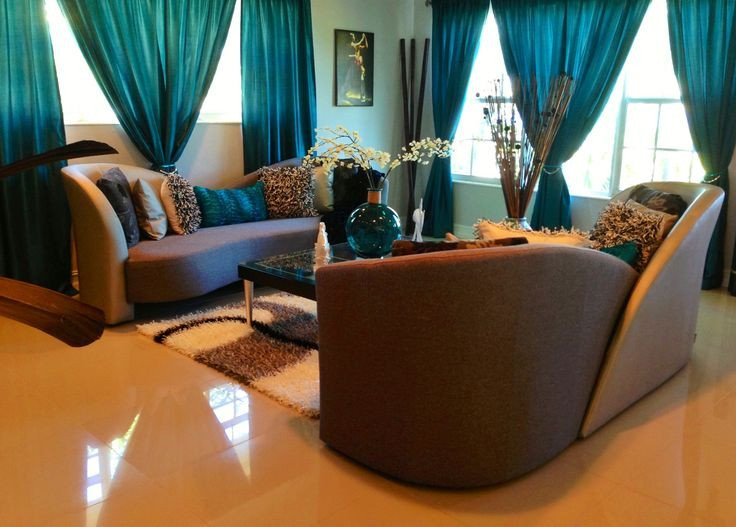 Teal and Brown Home Decor Unique Elegant Living Room In Teal Silver and Black Decor Ideas Pinterest