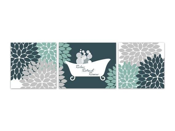 Teal and Gray Bathroom Decor Luxury Bathroom Wall Art Teal and Grey Bathroom Decor Relax Refresh
