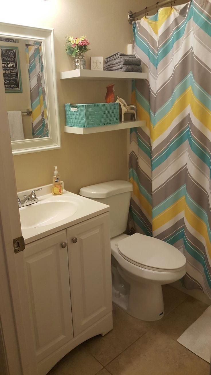 Teal and Gray Bathroom Decor New Small Bathroom Update Less Than $100 Lowe S and Hobby Lobby Yellow Teal and Gray Bathroom