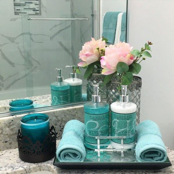 Teal and Gray Bathroom Decor New Teal Bathroom Decor Ideas Home Decor Pinterest