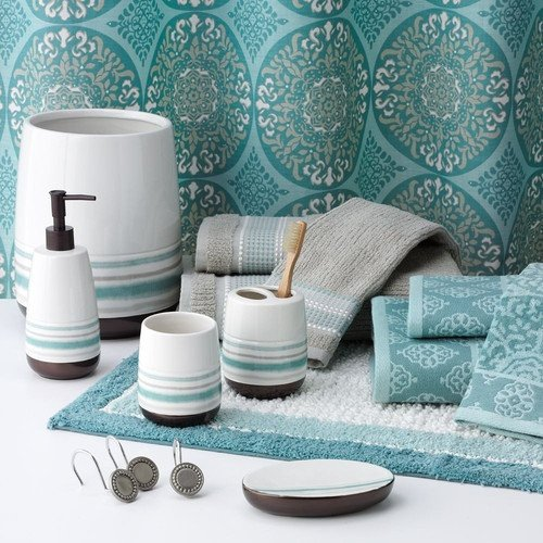 Teal and Gray Bathroom Decor Unique 17 Best Images About Teal Aqua Green Abstract Bathroom On Pinterest